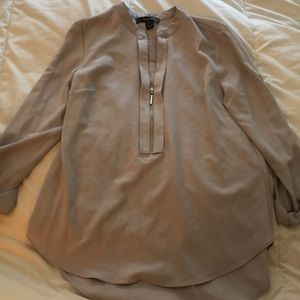 Brand New Primark Gray Long-sleeve Business Top